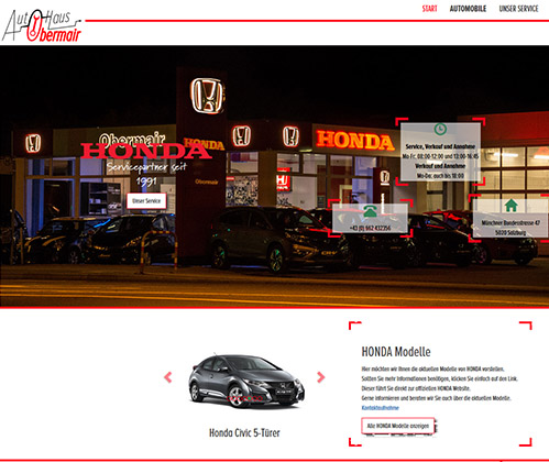 Webseite Honda Obermair